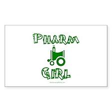 Pharm Girl Rectangle Decal