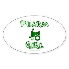 Pharm Girl Oval Decal