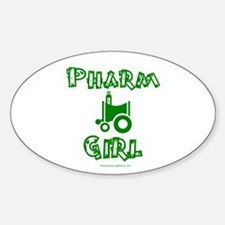 Pharm Girl Oval Decal