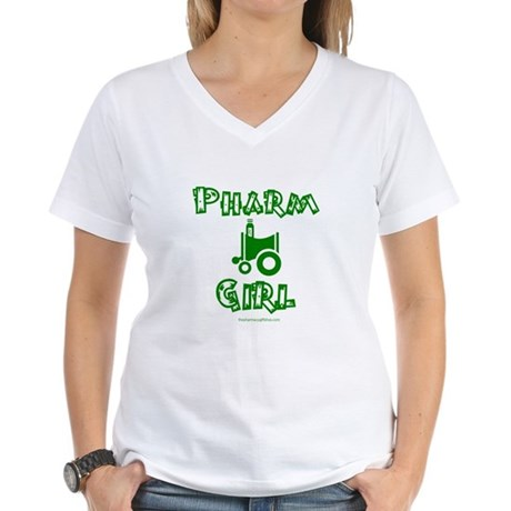 Pharm Girl Women's V-Neck T-Shirt