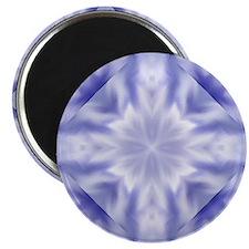 Blue and White Diamond Kaleidoscope Pattern Magnet