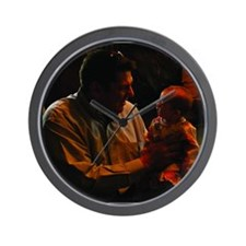 Cassidy on Dads Knee Wall Clock