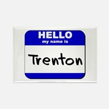 hello my name is trenton Rectangle Magnet