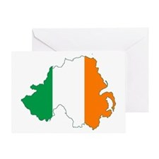Northern Ireland (Map with Tri-Colou Greeting Card