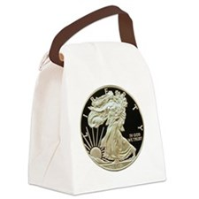American Eagle round 4x4 Canvas Lunch Bag
