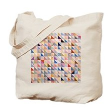 Vintage Triangles Patchwork Quilt Tote Bag