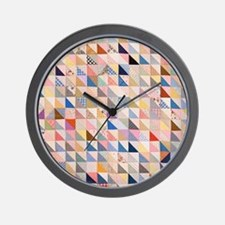 Vintage Triangles Patchwork Quilt Wall Clock