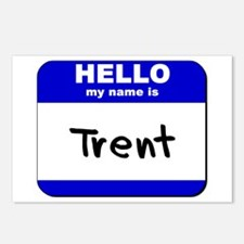 hello my name is trent  Postcards (Package of 8)