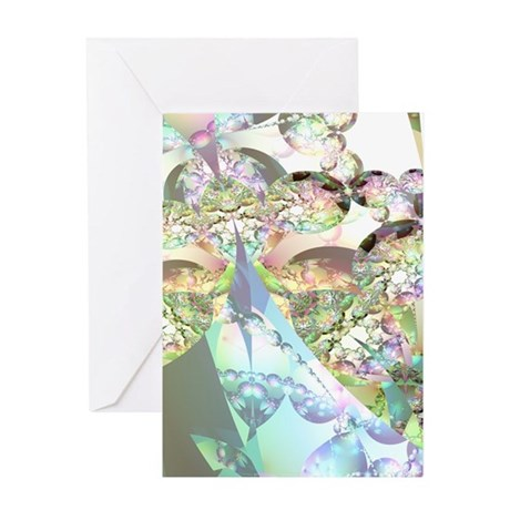 Abstract Fractal Wings of Angels Greeting Card