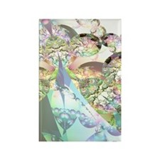 Abstract Fractal Wings of Angels Rectangle Magnet