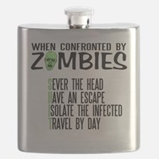 Zombie Survival Tips Flask