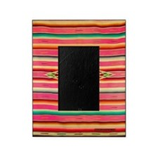 Vintage Pink Mexican Serape Picture Frame