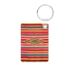 Vintage Pink Mexican Serap Keychains