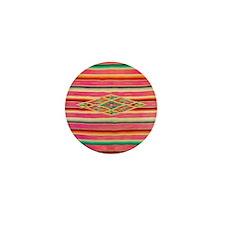 Vintage Pink Mexican Serape Mini Button
