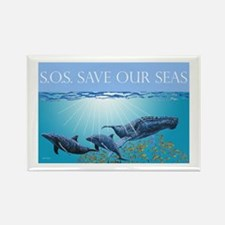 Save Our Seas Rectangle Magnet