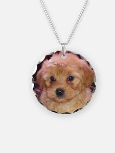 Labradoodle Pup Necklace