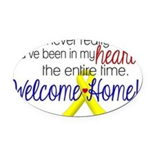 Welcome Home Oval Car Magnet