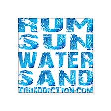 "TIKI - RUM SUN WATER SAND - Square Sticker 3"" x 3"""
