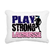 GirlsLax_Tee2 Rectangular Canvas Pillow