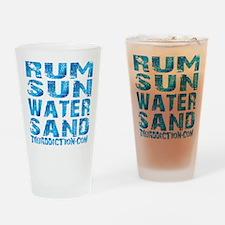 TIKI - RUM SUN WATER SAND - OCEAN Drinking Glass