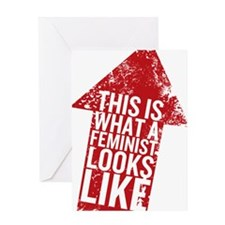 Feminist Looks Greeting Card