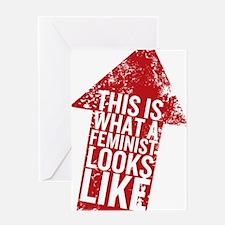 Feminist Looks Greeting Card
