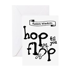 Hop til you Flop Greeting Card