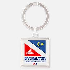 Dive Malaysia Square Keychain