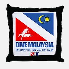 Dive Malaysia Throw Pillow
