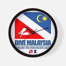 Dive Malaysia Wall Clock