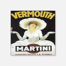"""MartiniRossiAll-Over Square Sticker 3"""" x 3"""""""