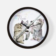 Felines  Flute Wall Clock