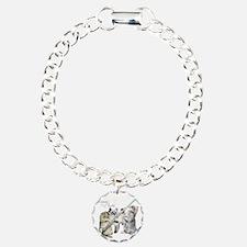 Felines  Flute Charm Bracelet, One Charm