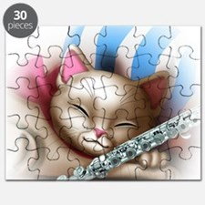 Napping Cat and Flute Puzzle