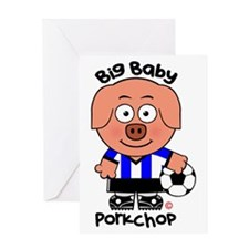 Big Baby Porkchop Soccer Greeting Card
