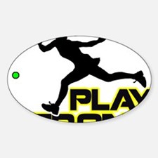 Play Strong Tennis Decal
