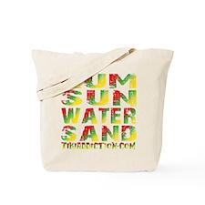 TIKI - RUM SUN WATER SAND - RASTA Tote Bag