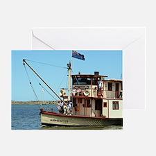 "Paddle Steamer ""Amphibious"", Murray  Greeting Card"
