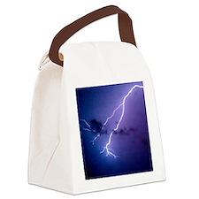 lightning 3 Canvas Lunch Bag