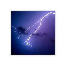 "lightning 3 Square Sticker 3"" x 3"""