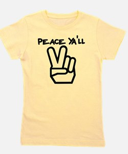 peace yall outline Girl's Tee