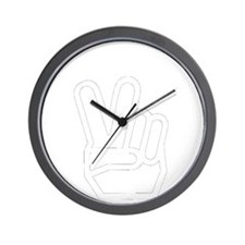 dark peace yall outline Wall Clock