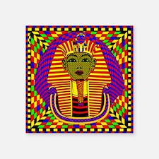 """King Tut Pop Art Square Sticker 3"""" x 3"""""""