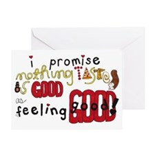taste and feel - Inspirational Greeting Card