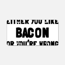 bacon Aluminum License Plate
