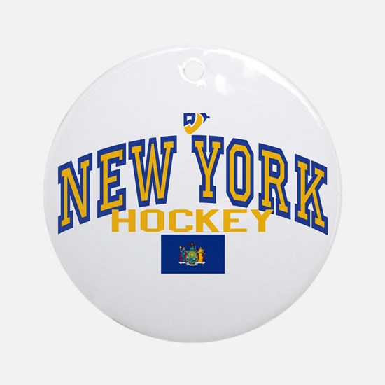 NY Hockey Ornament (Round)