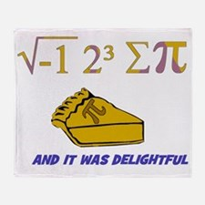 i ate sum pi t-shirt and it was deli Throw Blanket
