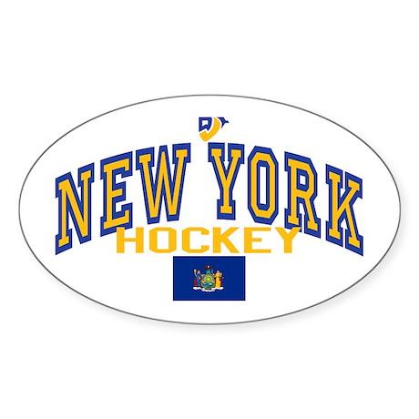 NY Hockey Oval Sticker