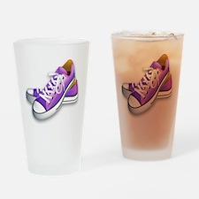 purple sneakers Drinking Glass