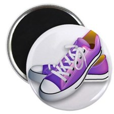 purple sneakers Magnet